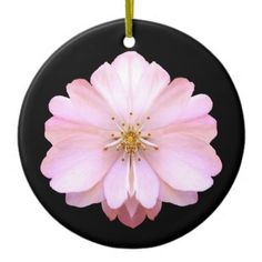 Cherry Blossom Ceramic Ornament - floral style flower flowers stylish diy personalize