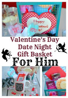 Valentine's Day is usually all about the girl. Make it all about your guy by creating a romantic date night gift basket for him AND you! #LoveOurVDay #Ad #Target