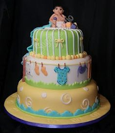 A baby shower cake~