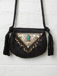 Cleobella Venita Crossbody - beautiful sterling and turquoise detail. (@ Free People)
