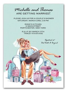 Kiss, Kiss! Cute couple shower invite. How sweet.#Repin By:Pinterest++ for iPad#