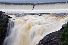 Dam by Claude Charbonneau on Waterfall, Earth, Nature, Outdoor, Outdoors, Waterfalls, Outdoor Games, Outdoor Living, The Great Outdoors