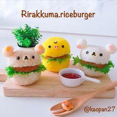 Rilakkumar rice burgers by kaori.kubotaHokkaido (@kaopan27)