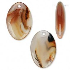 Focal, agate (natural), 33x19mm puffed oval, B grade, Mohs hardness 6-1/2 to 7. Sold per pkg of 2.