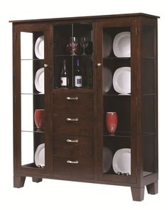 Modern Dining Room Hutch corner cupboard wood plans | to redo basement | pinterest | corner