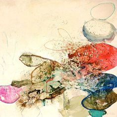 """Meredith Pardue - Run Like Wind - ink, oil, graphite on canvas, 48"""" x 48"""""""