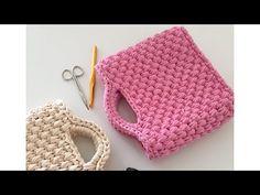 Penye ip ile çanta yapımı-2 - YouTube