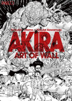 "A giant mural featuring characters from the cyberpunk manga ""Akira"" that adorned the walls of a cons Cyberpunk Kunst, Akira Anime, Manga Anime, Anime Art, Katsuhiro Otomo, Genesis Evangelion, Akira Kurusu, Traditional Japanese Tattoos, Gothic Fairy"