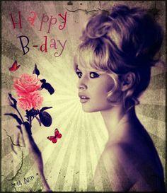 Happy birthday #retro #Bardot #birthday
