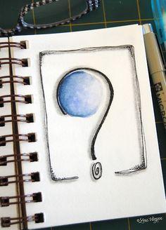 Inspiration for journaling. Lori Vliegen is my inspiration guru! Just Thinking About You, Color Me Beautiful, Creative Journal, Art Journal Inspiration, Journal Ideas, Question Mark, My Notebook, Handmade Crafts, Diy Crafts