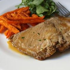 """Slow Cooker Apple Cider Braised Pork   """"I made this dish with roasted potatoes last night and it was soo delicious! We could not stop eating it! I followed the recipe to the letter and would not change a thing. I will make this again and again. Perfection!"""" http://allrecipes.com/recipe/slow-cooker-apple-cider-braised-pork/Detail.aspx"""