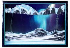 Moving Sand Art Picture Aurora Borealis in Movie Series
