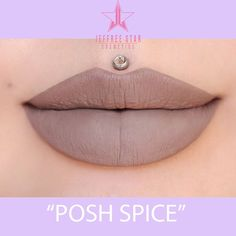 """Jeffree Star Cosmetics on Instagram: """"SHADE ALERT!! taupe griege dream ✨ new Velour Liquid Lipstick shade #POSHSPICE launches on AUG. 15TH @ NOON (PST time)!!!!!!! Mark the calendars!!! There will be 24 hour FREE shipping for all US orders, limit is 2 per customer!  Also being re-stocked that day: #UnicornBlood & #CelebritySkin ✨ lips: @missjazminad"""""""
