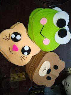 Felt Crafts, Diy And Crafts, Crafts For Kids, Felt Case, Types Of Pins, Money Envelopes, Pillow Fight, Slumber Parties, Kids Bags