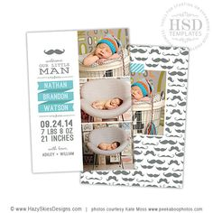 baby announcement template free