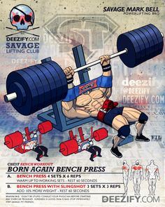 chest exercise: bench press with slingshot