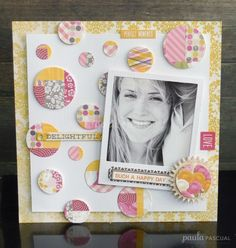Paper patchwork by Paula Pascual » Scrapbooking With Tubo using the Instant frame die and the Big Shot starter kit.