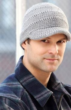Hard to find patterns for men. Free pattern  from Red Heart. Streetwise Brim Hat Crochet Pattern