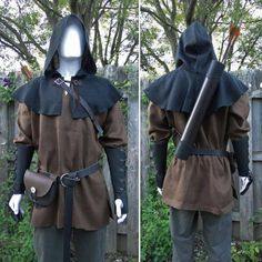 Archer Costume Set Deluxe 8 Piece Set Mens Large One Size & Medieval archer ranger costume made and sold by folkofthewood on ...