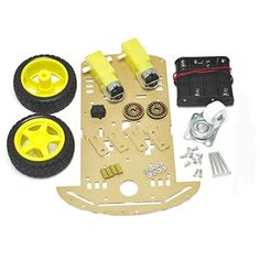 HiLetgo 2WD Smart Robot Car Chassis DIY Kit Speed Encoder W/ Battery Box 2 Motor * Click image to review more details.