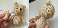 Make your own teddy bear with this free amigurumi tutorial. To make this bear you need YarnArt Jeans yarn and mm crochet hook. Crochet Teddy Bear Pattern, Crochet Animal Patterns, Stuffed Animal Patterns, Crochet Patterns Amigurumi, Crochet Dolls, Crochet Baby, Single Crochet, Crochet Projects, Free Pattern