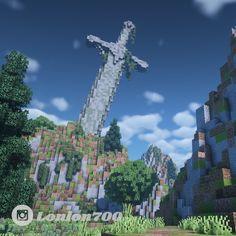 Minecraft Statues, Minecraft Sword, Minecraft Mansion, Minecraft Cottage, Cute Minecraft Houses, Minecraft Plans, Minecraft House Designs, Minecraft Survival, Amazing Minecraft