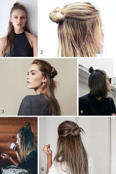 Six ways to wear the half bun, the easiest hair trend of 2015 - A Girl Named PJ