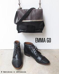 Combo @ www.matieresareflexion.com  #EmmaGo #Matieresareflexion #Chaussures #Bottines #Sacs #Mini #Femme #Accessoires