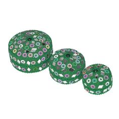 Indian Gift Home Decor Green Jewellery Boxes Handmade Lac Beaded Material Table Top Vintage Style Decorative Box Set of 3 Pcs Antique Pill Box DakshCraft http://www.amazon.co.uk/dp/B00CYGHFHE/ref=cm_sw_r_pi_dp_wLKfwb1HYAC9H