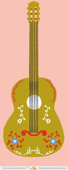 A mexican inspired folk guitar by Francesca Iannaccone http//:francescaiannaccone.com