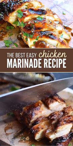Chicken Marinade Recipes, Chicken And Beef Recipe, Baked Chicken Recipes, Beef Recipes, Cooking Recipes, Grilled Asparagus Recipes, Roasted Chicken, Healthy Chicken Marinades, Chicken Breast On Grill