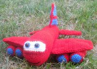 Crochet Toys For Boys 1500 Free Amigurumi Patterns: Red the Airplane Crochet pattern Crochet Car, Crochet For Boys, Crochet Gifts, Cute Crochet, Crochet Dolls, Crocheted Toys, Easy Crochet, Boy Crochet Patterns, Crochet Amigurumi Free Patterns