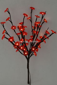 Online Led Electric Type Acrylic Flower Branch Light Aa Standard Decoration With Dc Adaptor