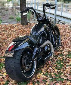 Harley Davidson Chopper, Harley Davidson Night Rod, Harley Davidson Pictures, Black Harley Davidson, Harley Davidson Sportster, Harley Night Rod, Harley V Rod, New Harley, Harley Bikes