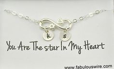 Infinity Heart Star Bracelet Personalized Infinity by FabulousWire