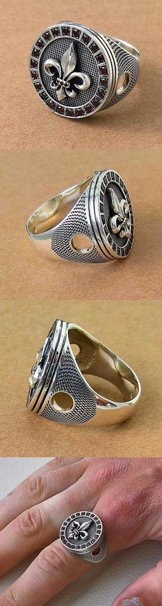 Beauty Princes Ring, Knights Templar Ring, Jewelry Rings, Jewelery, Mens Silver Jewelry, Gents Ring, Thumb Rings, Antique Rings, Ring Designs
