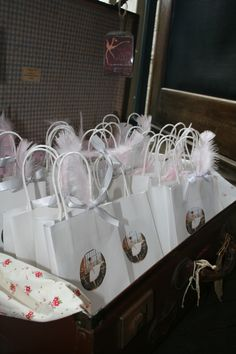 Party Favours / Gift Bags Ballerina Party  7 year old girls birthday  Red and Wolf Vintage Event