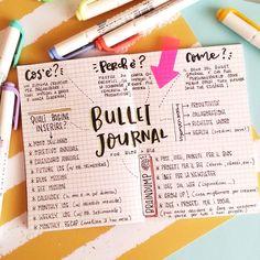 Piccola guida sul Bullet Journal, sistema creativo per organizzare i tuoi impegni a breve e lunga scadenza. Bullet Journal Key, Bullet Journal School, Junk Journal, Food Journal, Home Binder, Scrapbooking, Brush Lettering, Bullet Journal Inspiration, Printable Planner