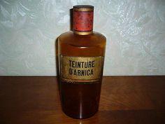 Ancien pot flacon a pharmacie verre soufflé XIX IEME AMBRE