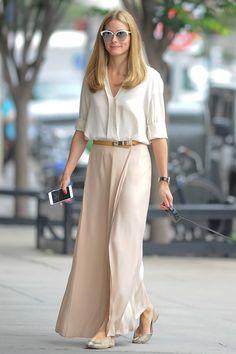 Оливия Палермо в очках Dior и юбке Stella McCartney в Нью-Йорке