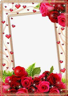 Photo Frame - Ideas That Produce Nice Photos Regardless Of Your Skills! Flower Background Wallpaper, Studio Background Images, Framed Wallpaper, Flower Backgrounds, Happy Birthday Frame, Birthday Photo Frame, Birthday Frames, Rose Frame, Flower Frame