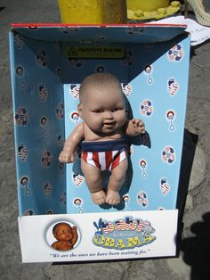 Obama Baby Doll in Package - spotted at the Rose Bowl Flea Market.