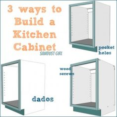 Three ways to build a basic kitchen cabinet