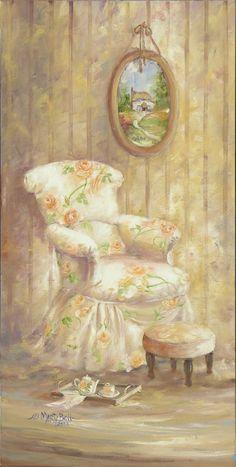 Peach Chair ~ Marty Bell