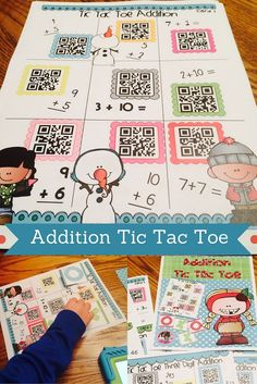 Let's have some Winter themed fun and practice our addition skills! What better way to incorporate technology, hands on learning, and skill practice in so many different ways with 1 product! This set can be used as partner practice, small groups, math tub