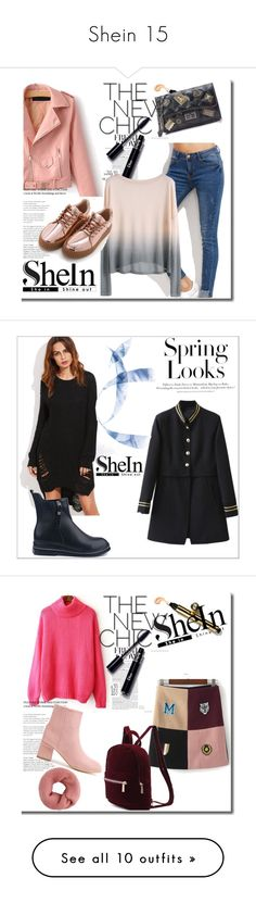 """""""Shein 15"""" by zina1002 ❤ liked on Polyvore featuring H&M, Bobbi Brown Cosmetics, J Brand and Gucci"""