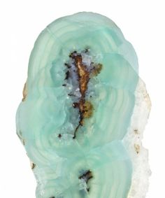 Smithsonite stalactite section / Lavrion Mines, Greece