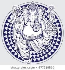Hand Drawn Lord Ganesha Over Tribal Geometric Pattern. Stock Vector - Illustration of highly, graphic: 118161255 Mens Hairstyles With Beard, Hair And Beard Styles, Minnie Mouse Pictures, Hair Vector, Lord Krishna Wallpapers, Creative Artwork, Beard No Mustache, Lord Ganesha, Free Illustrations