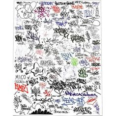 ALIFE Handwritten Graffiti Print