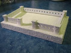 Tutorial for making fence posts for putz houses. Putz base and fence by christmasnotebook, via Flickr